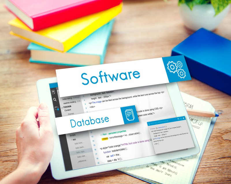 database and software written on a tablet