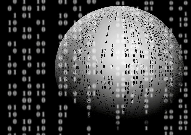 ball binary computer data indicating daas